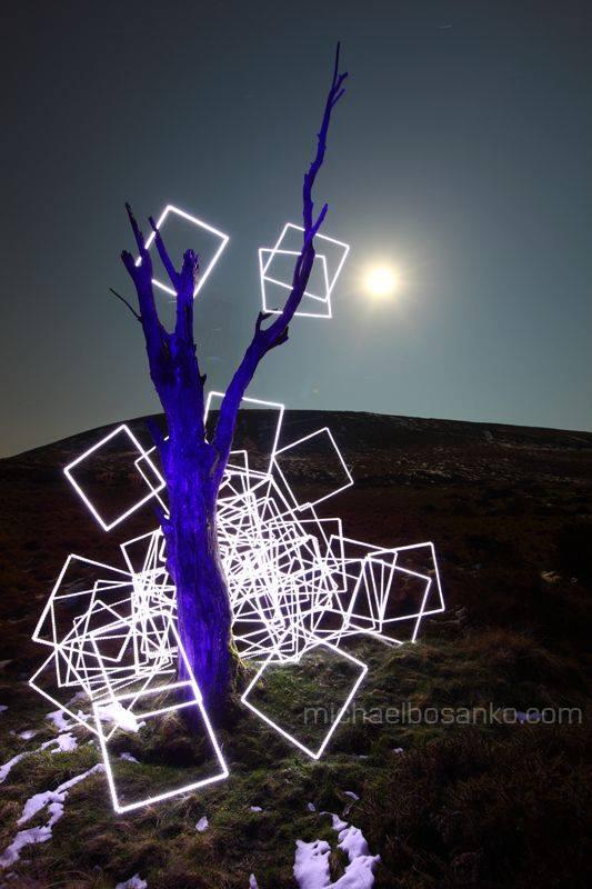 Light art by Michael Bosanko - Light Graffiti