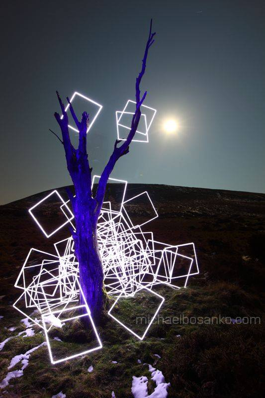 Light art by Michael Bosanko - Light Graffiti