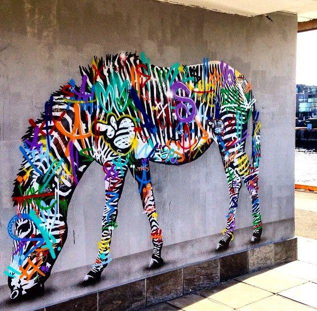 Mural by Martin Whatson in Oslo, Norway