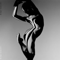 Beautiful nude dance in to the dark - by Howard Schatz
