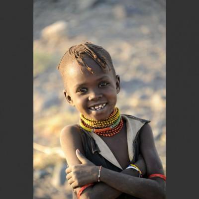 Lago Turkana, Kenia. tribu turkana