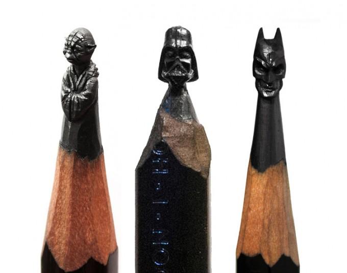 Micro Sculptures into pencils lead - by Salavat Fidai