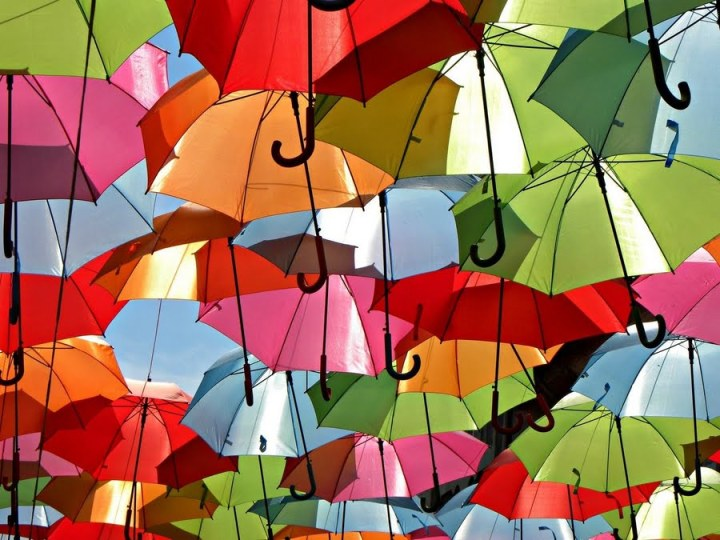 umbrella's colorful sky