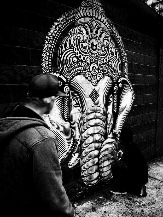 Elephant vibes - Street art. Be artist Be art