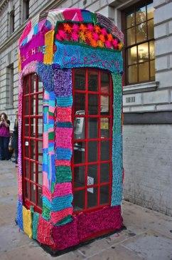 Winter Rainbows - Yarn Bombing Guerrilla by Be artist Be art