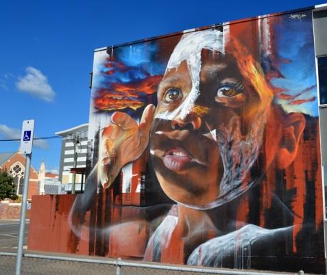 Hyper real Street art - by Adnate