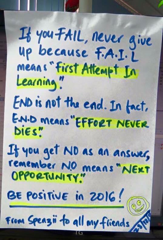 Fail - End - No - Be artist Be art