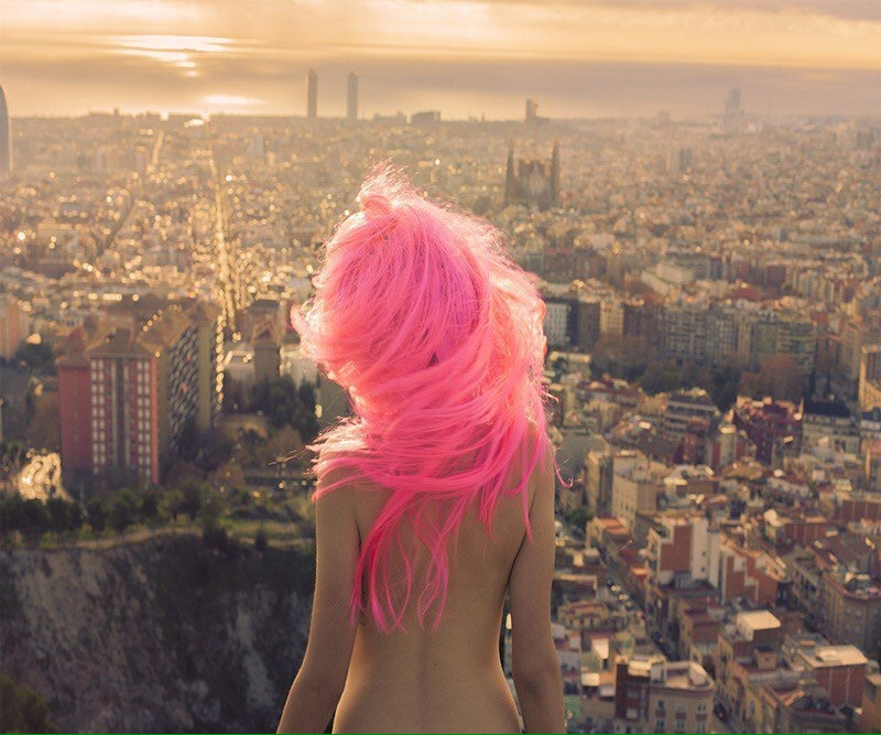 Pink princess in to the wild city - by Dania Shihab  - Be artist Be art