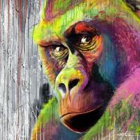 Gorilla Street art - by Noe Two