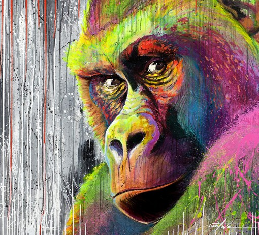 Gorilla Street art - by Noe Two - Be artist Be art