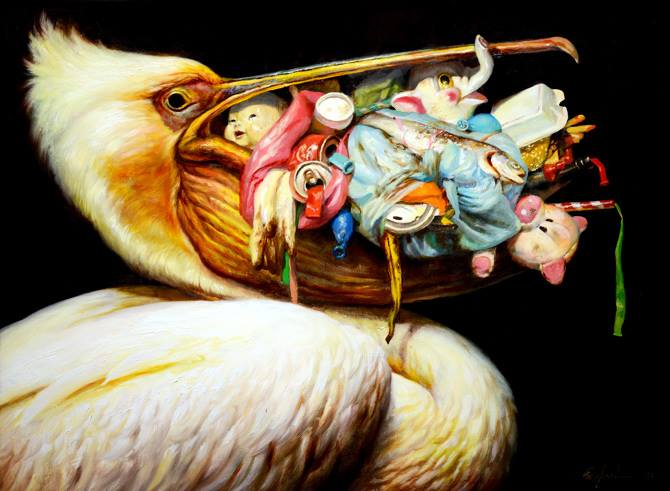 Paintings of Animals Within Post-Apocalyptic Environments by Martin Wittfooth