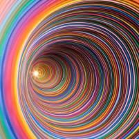 Psychedelic Art by Jen Stark - Be artist Be art #artpeople #art #colours #design #cool #fineart #digital