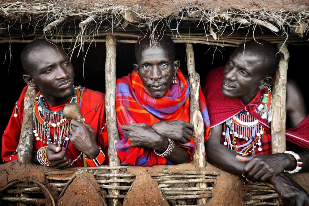 Masai Warriors - by David Lazar - be artist be art - urban magazine