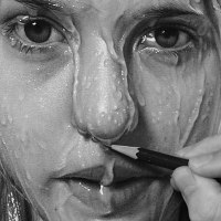 Hyperrealism Drawing - by Dirk Dzmirsky