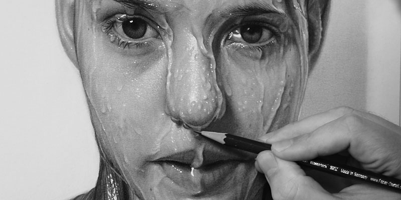 Hyperrealism Drawing - by Dirk Dzmirsky - be artist be art - urban magazine
