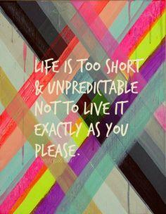 Live Life - #quote - be artist be art - urban magazine