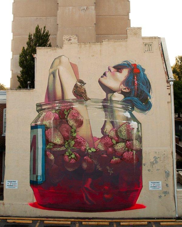 Fruit bath - Street art - be artist be art - urban magazine