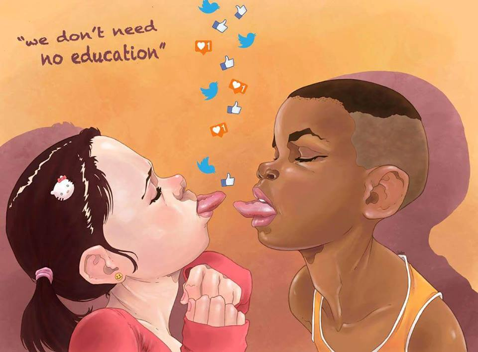 we don´t need education by Luis Quiles - be artist be art - urban magazine
