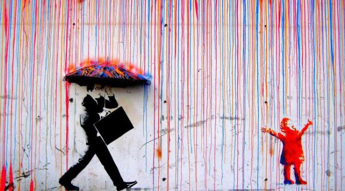 Raining Art - Colorful Street Art - Be artist Be art