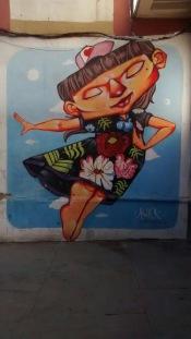 Pretty doll - Bolivia Street art - be artist be art