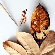 Paints with coffee - by Ghidaq Al Nizar - be artist be art