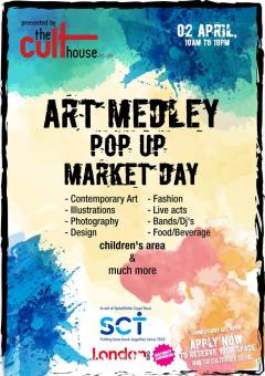 Art Medley Pop Up Market Day - by The Culthouse - Be artist Be art