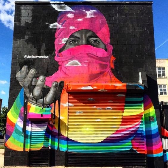 Rainbow Thief - Street Art