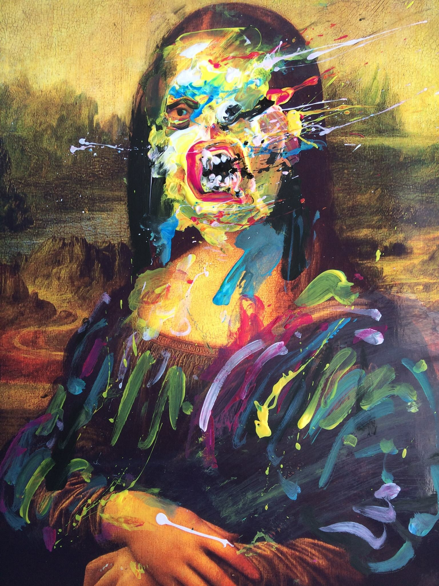 Abstract Gioconda - by Alex Arnell - be artist be art