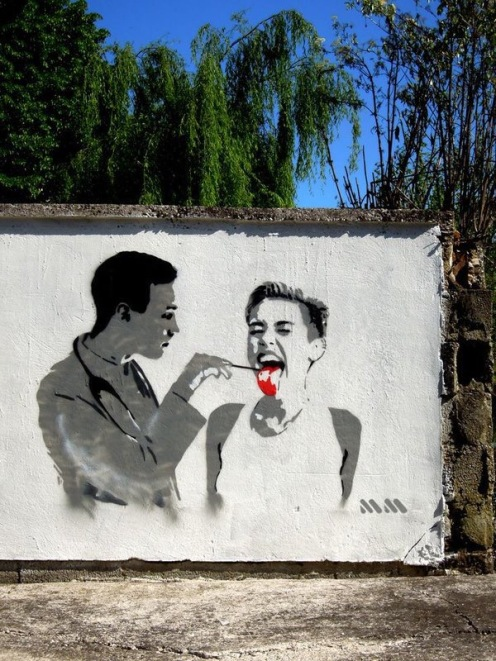 Funny Nasty Miley Cyrus - Street Art - be artist be art