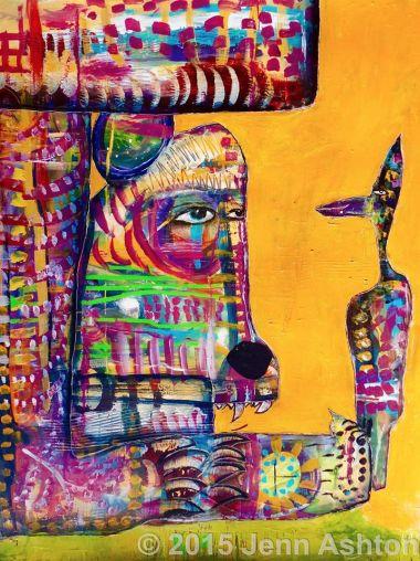 Smile & Creativity in Art - by Jenn Ashton - be artist be art