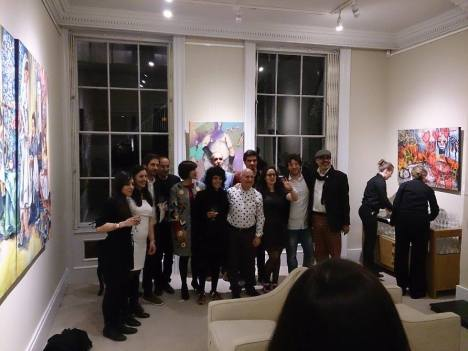 Some of 20 artists and Mara Alves (Curator) and Marcos Rizzoli (art critic)