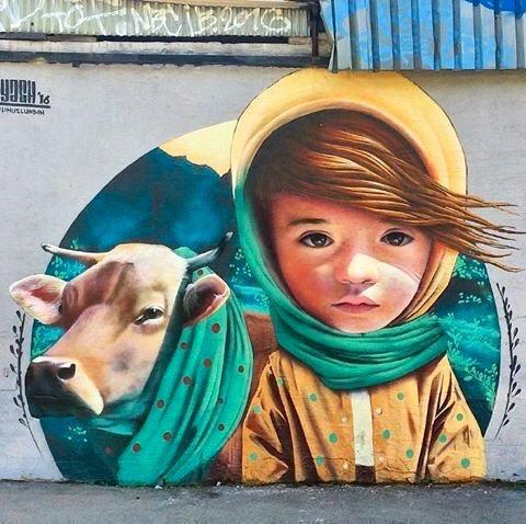 Beauty & Nature - Street Art - be artist be art