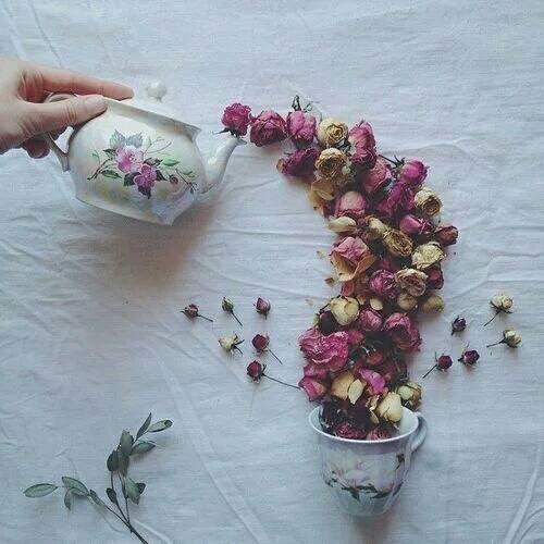 Flowers Tea - Art Drink - be artist be art