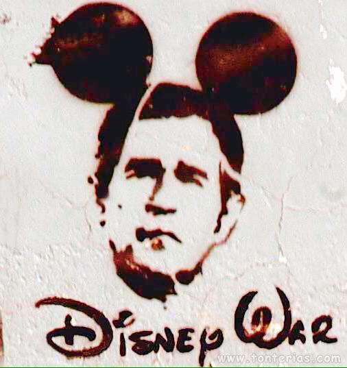 Disney War - Street Art - be artist be art