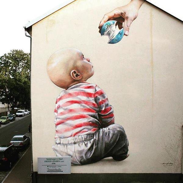 Baby Streetart - by Innerfields - be artist be art