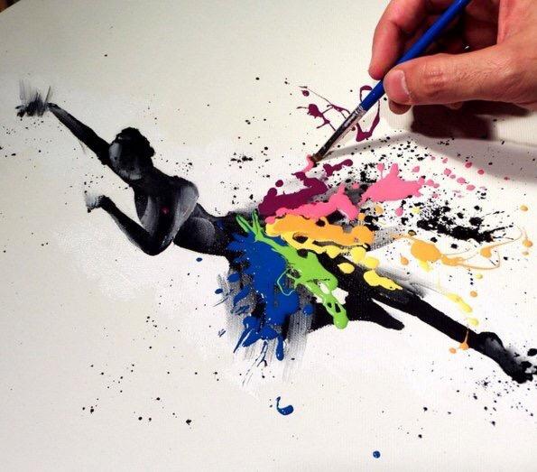 Dance Colours - #creative - be artist be art