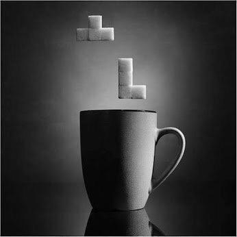 Coffee Tetris - #creative - be artist be art