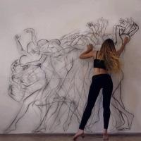 Contemporary Dance Painting - Zarah Abraham