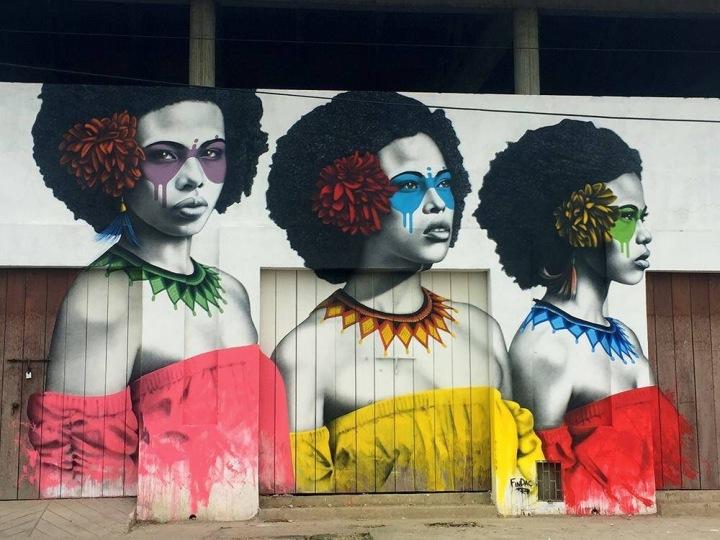 Faces of Cartagena - #streetart by finbarr dac  - be artist be art