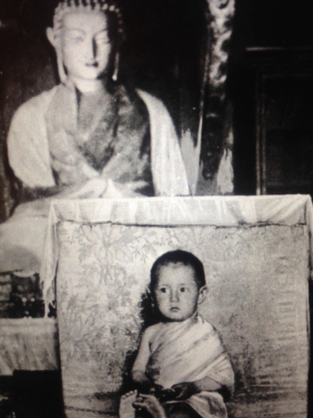 Dalai Lama (2 year old) - World faces - be artist be art