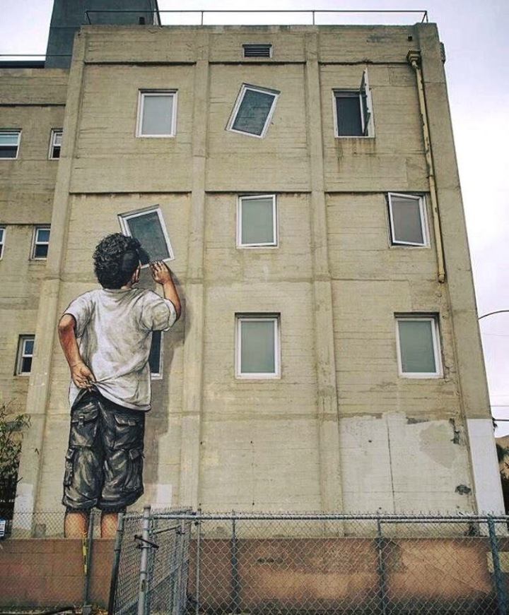 Youth curiosity - #streetart - be artist be art