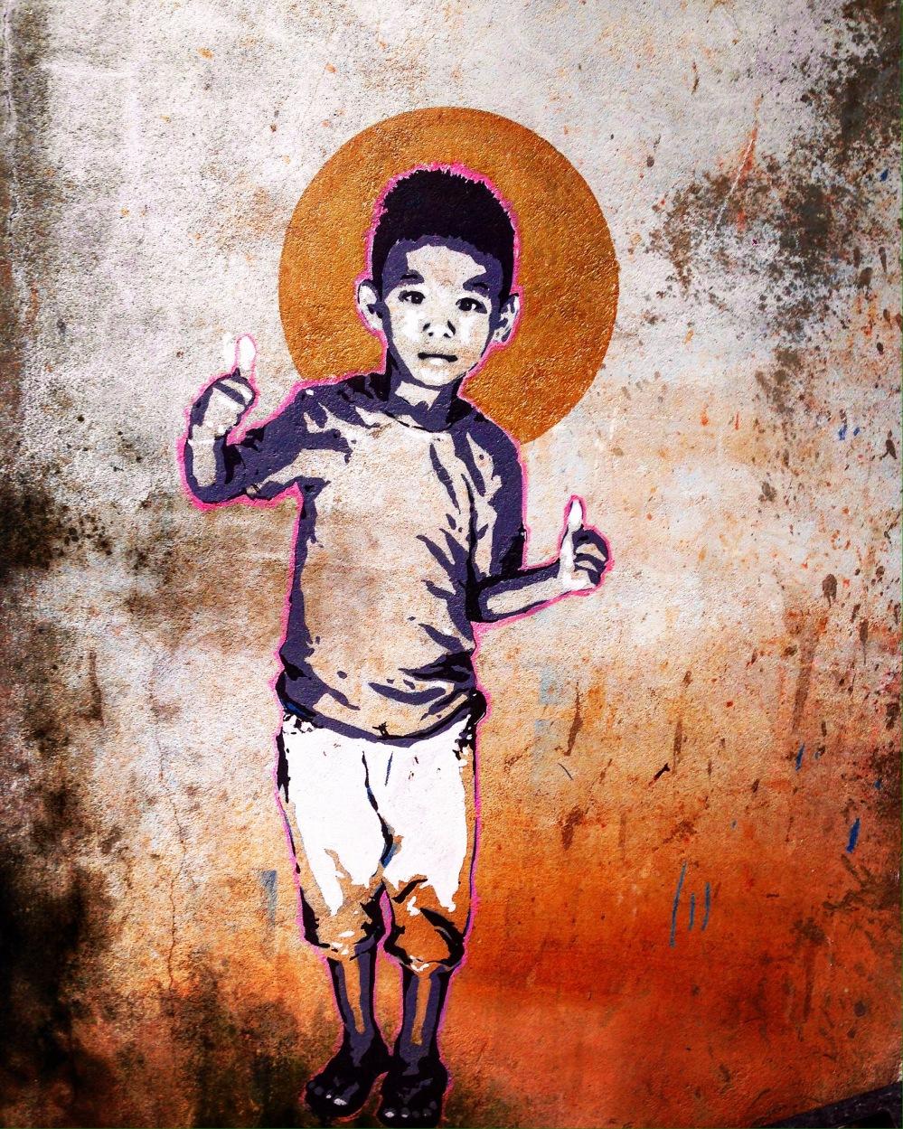 Nepal #streetart - Feel like a kid, enjoy life! - be artist be art