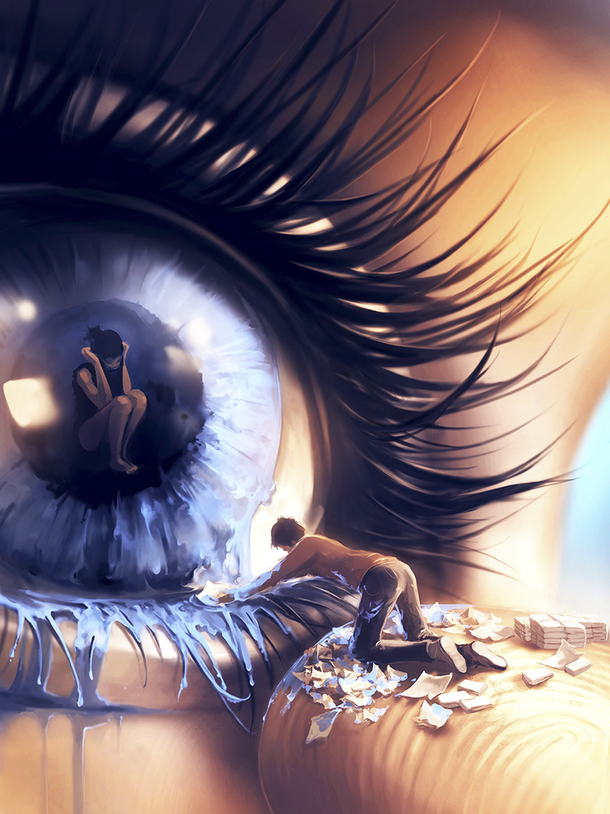 Deep Thoughts - by Cyril Rolando - be artist be art