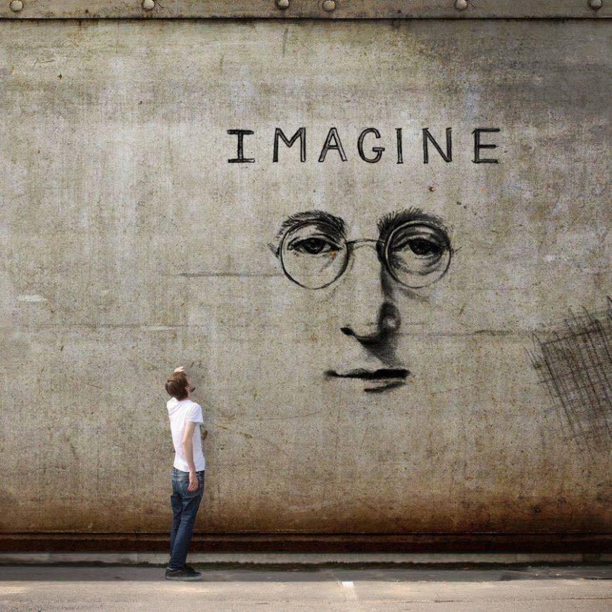 Imagine #JohnLennon - #Creative #Streetart - be artist be art