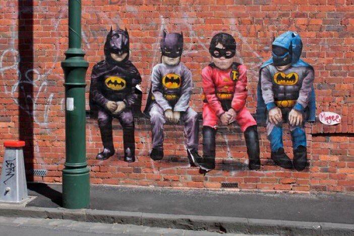 Mini #Heroes - #Creative #Streetart - be artist be art