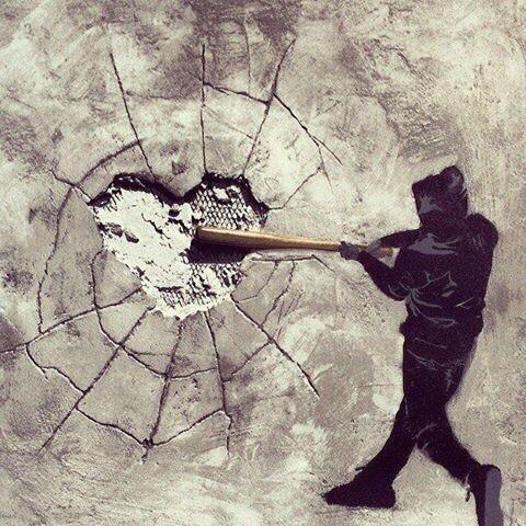 #Rock #Heart - Creative #Streetart - be artist be art