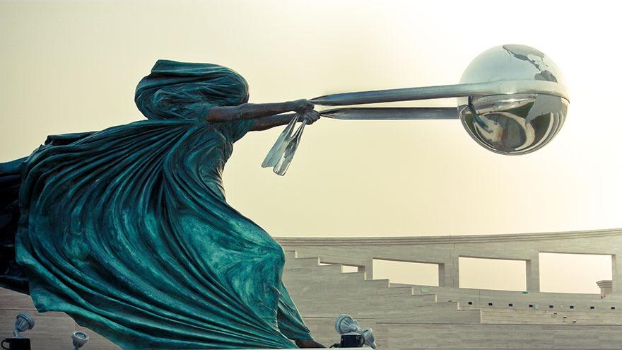 The #force of #nature - by Lorenzo Quinn @artistlorenzo - be artist be art