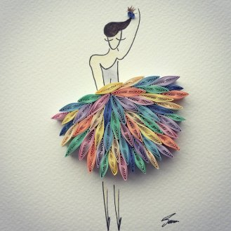 Colorful Paper Art - by Sena Runa - be artist be art