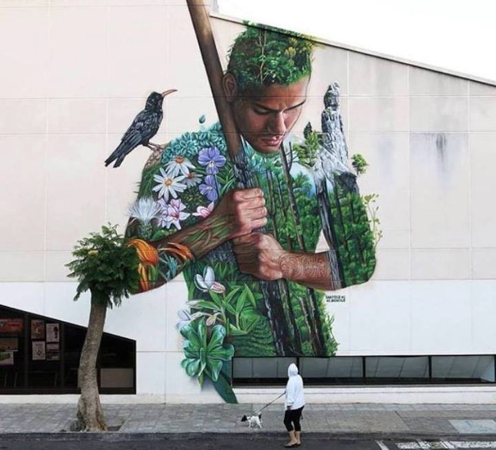 """Tanausu"" Nature #Streetart - by Sabotaje Al Montaje - be artist be art"