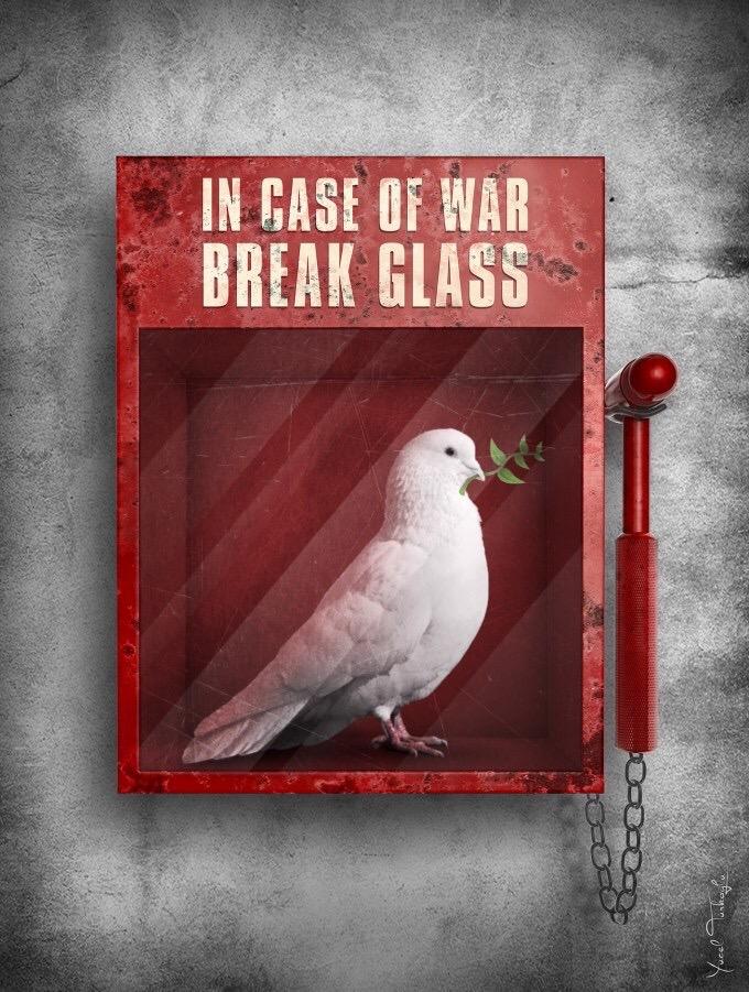 Break in case of #war - #Creative #Peace by Yucel Turkoglu - be artist be art